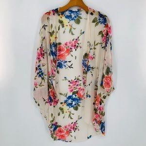 Poetry Floral Sheer Kimono